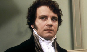 Colin Firth as Mr. Darcy courtesy of theguardian.com